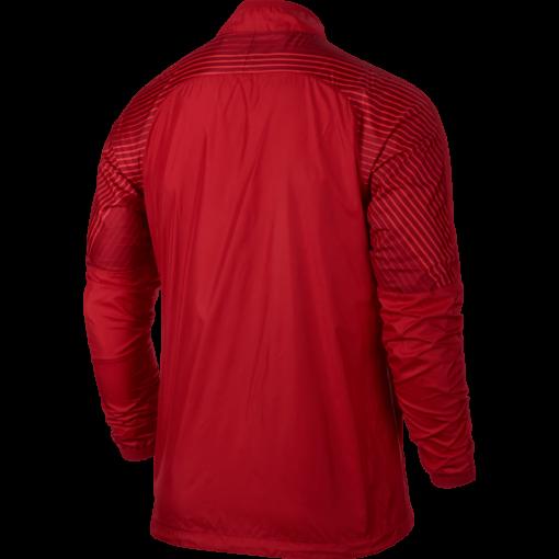 Nike Revolution Graphic Woven Jacket Red achterkant jack