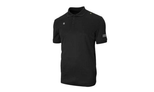 Klassiek Poloshirt met een 3 knoopssluiting van hoogwaardige technische pique. De Robey Polo Zwart is voorzien van een onderscheidende langere achterkant.