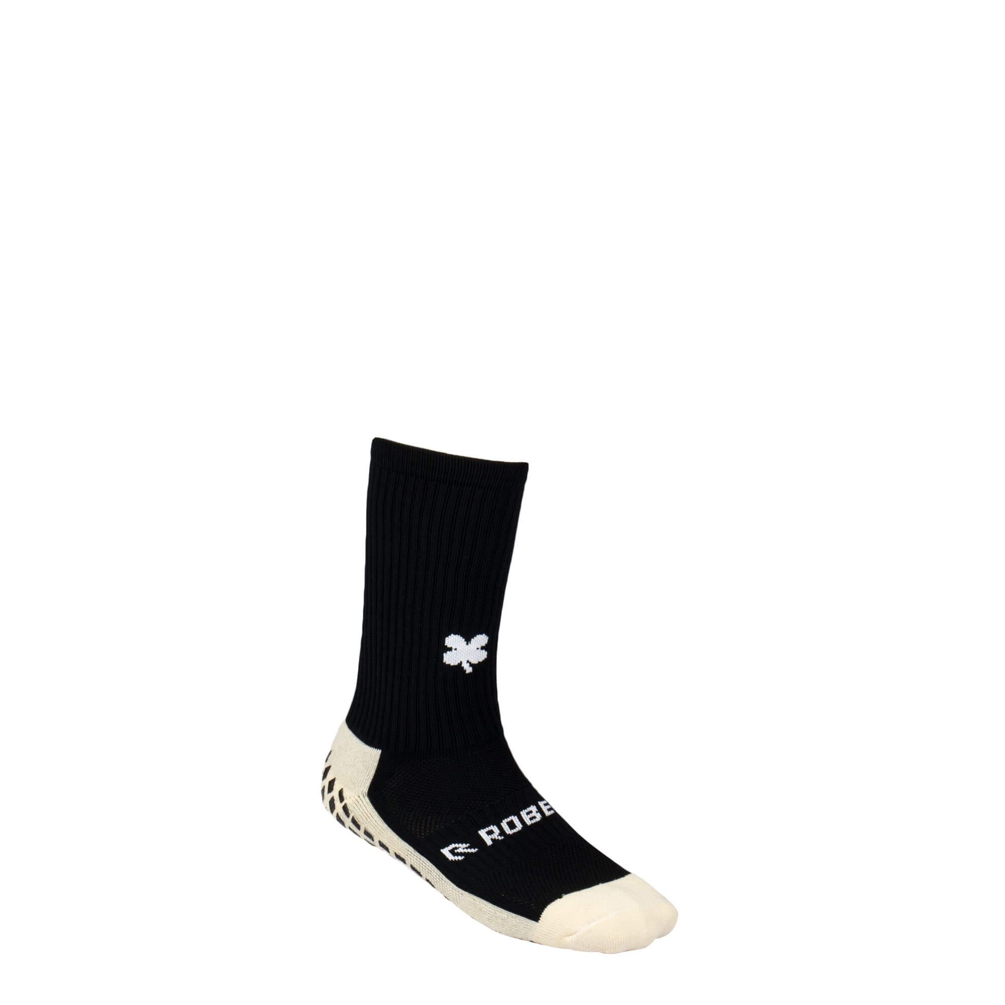 De Robey Grip Socks Black zijn vochtregulerende sokken met speciale grip pads voor een perfect anti-slip effect, hierdoor heb je geen wrijving meer in je kicksen.
