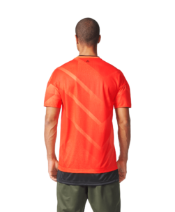 adidas Tango Football Shirt Semi Solar Orange Black achterkant