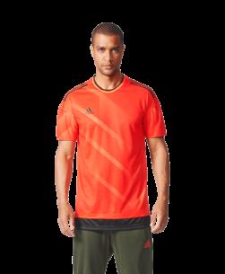 adidas Tango Football Shirt Semi Solar Orange Black