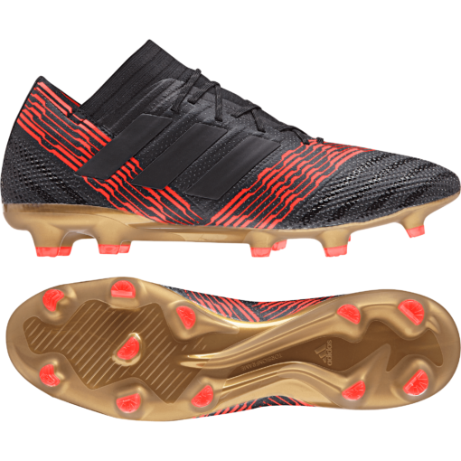 adidas Nemeziz 17.1 FG Core Black Solar Red detail