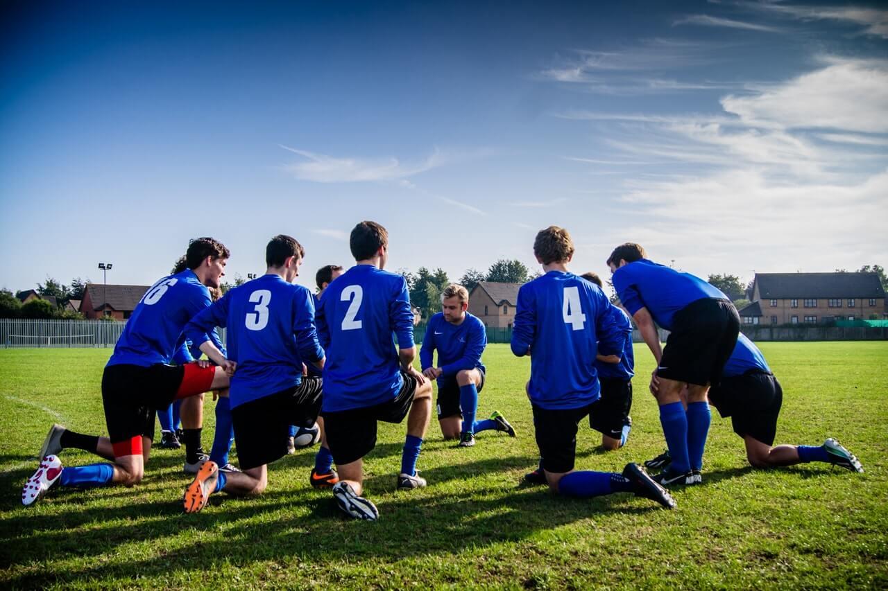 teamkleding voor een voetbalteam