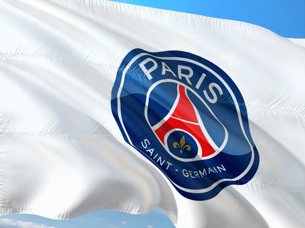 De vlag van de opkomende voetbalclub PSG