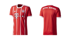 Thuisshirt van voetbalclub Bayern München