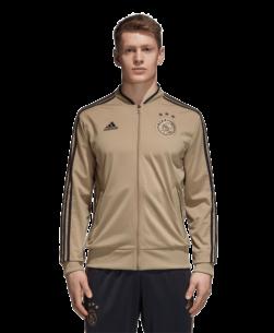 adidas Ajax Trainingsjack 2018-2019 Raw Gold Carbon