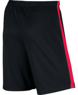 Nike Dry Academy Trainingsbroekje Black Siren Red achterkant