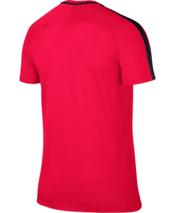 Nike Dry Academy Trainingsshirt Siren Red Black achterkant