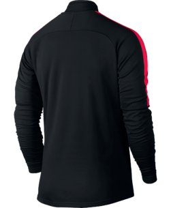 Nike Dry Academy Drill Trainingstrui Black Siren Red achterkant