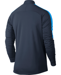 Nike Dry Academy Drill Trainingstrui Navy achterkant