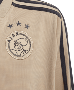 adidas Ajax Trainingsjack 2018-2019 Kids Raw Gold Carbon zijkant