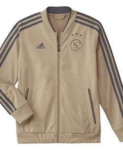 adidas Ajax Trainingsjack 2018-2019 Kids Raw Gold Carbon
