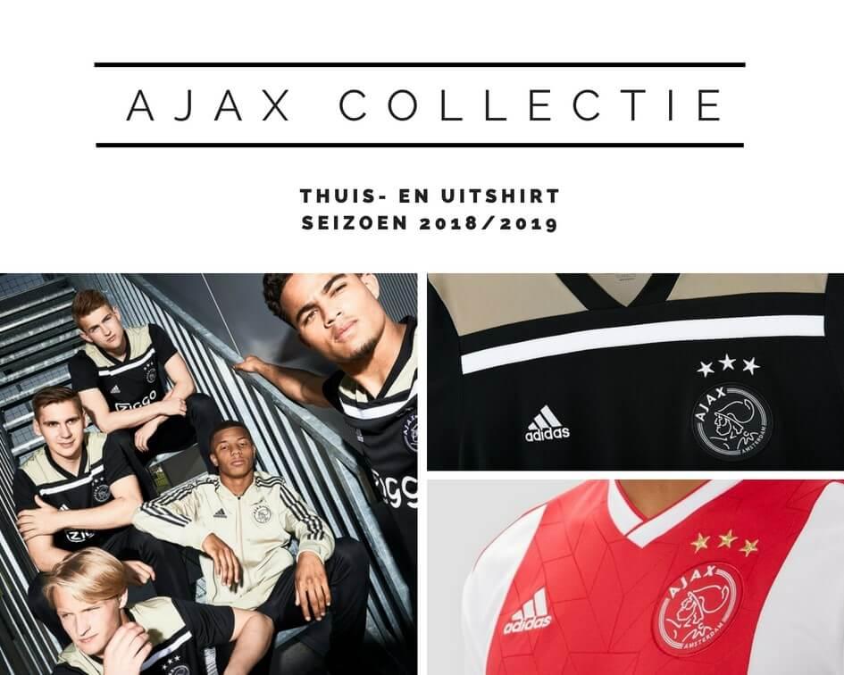 thuis- en uitshirt Ajax seizoen 2018/2019