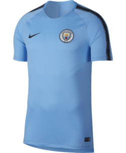Nike Manchester City FC Breathe Squad Trainingsshirt 2018-2019 Field Blue voorkant