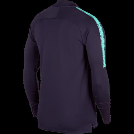 Nike FC Barcelona Dry Squad Drill Trainingstrui 2018-2019 Purple Dynasty achterkant