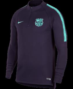 Nike FC Barcelona Dry Squad Drill Trainingstrui 2018-2019 Purple Dynasty voorkant
