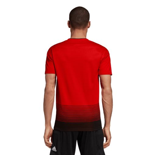adidas Manchester United Thuisshirt 2018-2019 Real Red Black achterkant