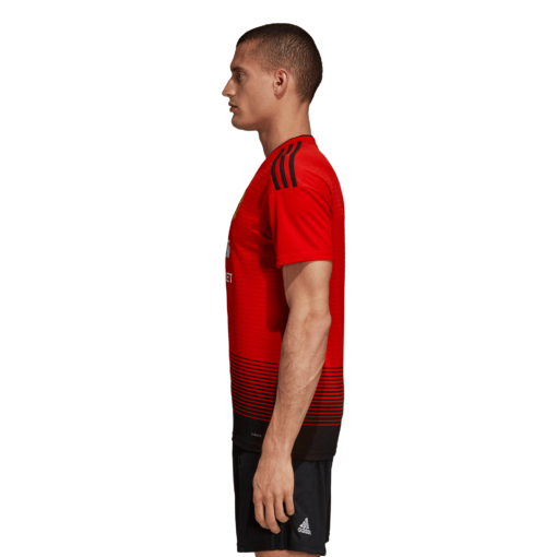 adidas Manchester United Thuisshirt 2018-2019 Real Red Black zijkant
