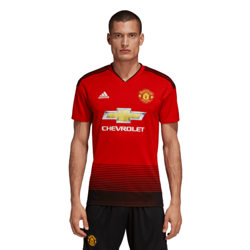 adidas Manchester United Thuisshirt 2018-2019 Real Red Black voorkant