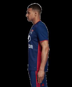 adidas Olympique Lyonnais Uitshirt 2018-2019 Dark Blue zijkant
