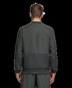 adidas Bayern München Presentatie Trainingsjack 2018-2019 Grey Red achterkant