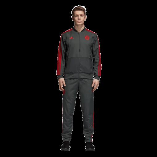 adidas Bayern München Presentatie Trainingsjack 2018-2019 Grey Red pak
