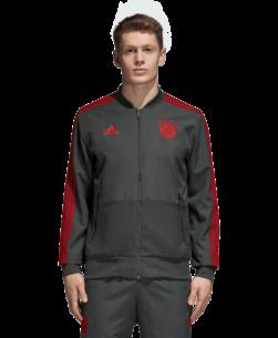 adidas Bayern München Presentatie Trainingsjack 2018-2019 Grey Red