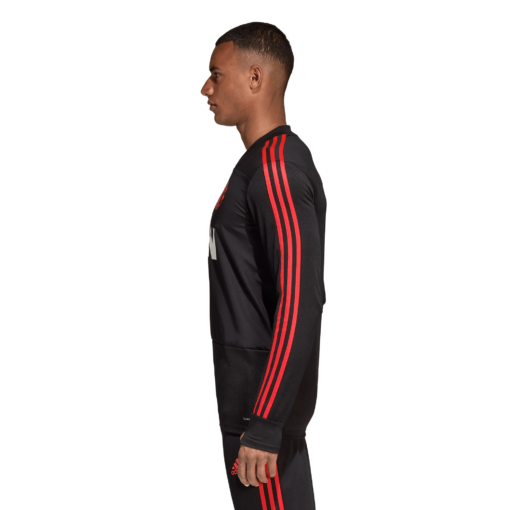 adidas Manchester United Trainingsshirt 2018-2019 Black Blaze Red zijkant