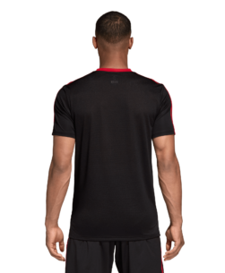 adidas Manchester United Trainingsshirt 2018-2019 Black Blaze Red achterkant