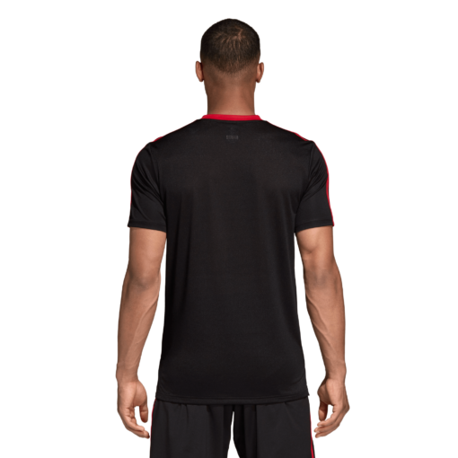 adidas Manchester United Trainingsshirt 2018-2019 Black Blaze Red achterkant