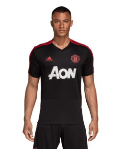 adidas Manchester United Trainingsshirt 2018-2019 Black Blaze Red