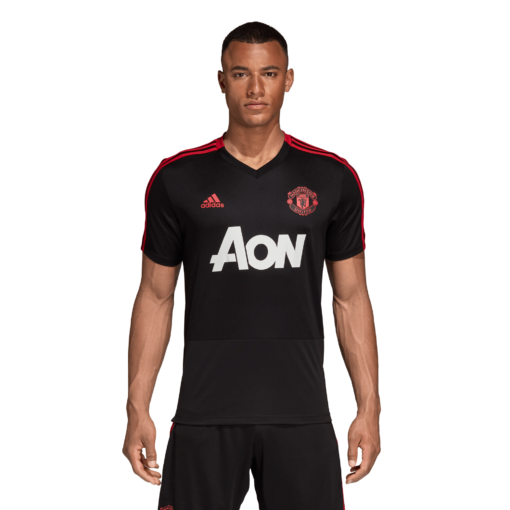 adidas Manchester United Trainingsshirt 2018-2019 Black Blaze Red