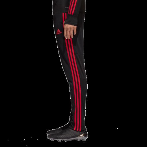 adidas Manchester United Trainingsbroek 2018-2019 Black Blaze Red Core Pink zijkant