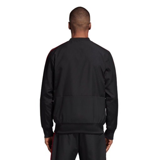 adidas Manchester United Presentatie Trainingsjack 2018-2019 Black Blaze Red achterkant