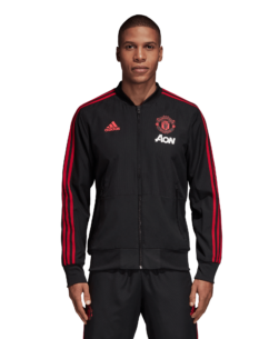 adidas Manchester United Presentatie Trainingsjack 2018-2019 Black Blaze Red