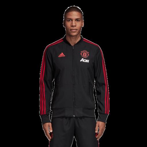 adidas Manchester United Presentatie Trainingsjack 2018-2019 Black Blaze Red