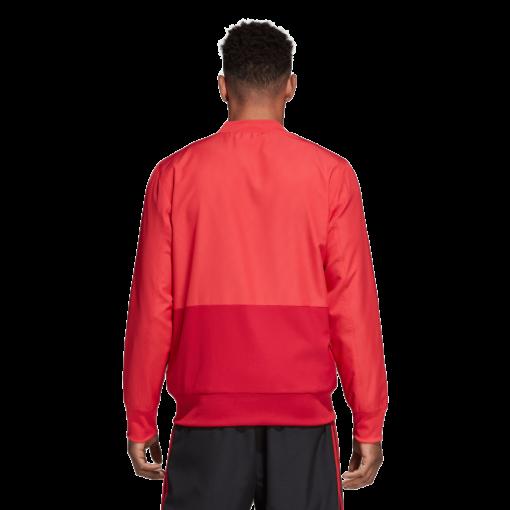 adidas Manchester United Presentatie Trainingspak 2018-2019 Core Pink Blaze Red Black achterkant