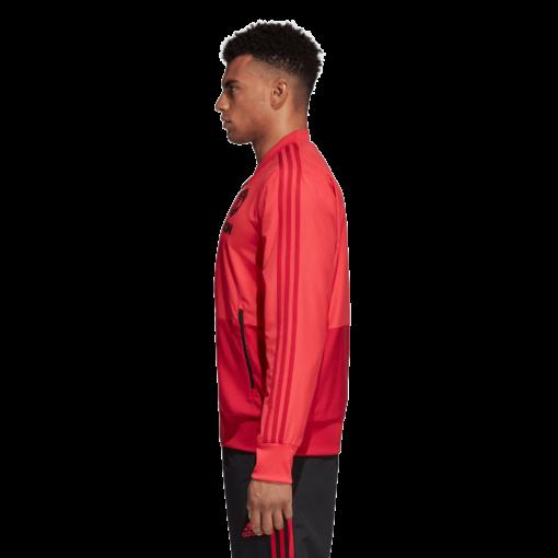 adidas Manchester United Presentatie Trainingspak 2018-2019 Core Pink Blaze Red Black zijkant