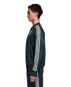 adidas Real Madrid Trainingsjack 2018-2019 Blue Core White zijkant
