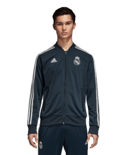adidas Real Madrid Trainingsjack 2018-2019 Blue Core White voorkant