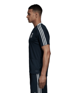 adidas Real Madrid Trainingsshirt 2018-2019 Blue Black Core White zijkant