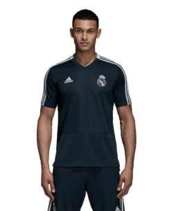 adidas Real Madrid Trainingsshirt 2018-2019 Blue Black Core White
