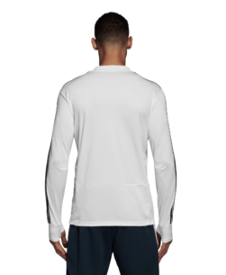 adidas Real Madrid Trainingstrui 2018-2019 Cream White Tech Onix achterkant