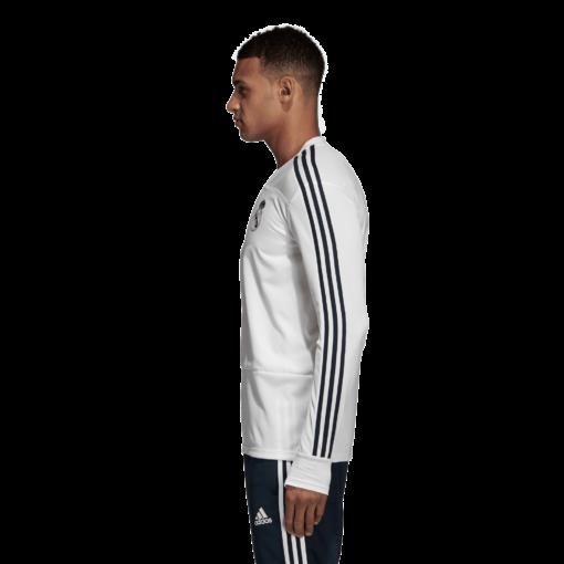adidas Real Madrid Trainingstrui 2018-2019 Cream White Tech Onix zijkant