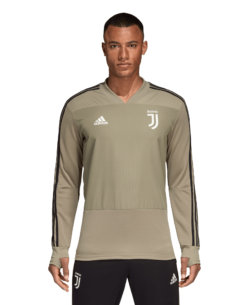 adidas Juventus Trainingstrui 2018-2019 Clay Black voorkant