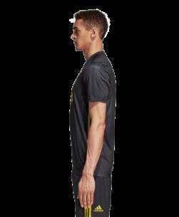 adidas Juventus Derde Wedstrijdshirt 2018-2019 Grey Shock Yellow zijkant