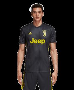 adidas Juventus Derde Wedstrijdshirt 2018-2019 Grey Shock Yellow voorkant