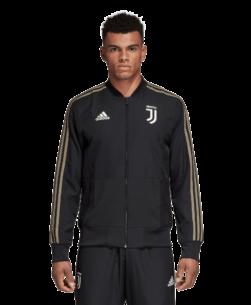 adidas Juventus Presentatie Trainingsjack 2018-2019 Black voorkant