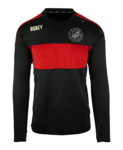 Robey Performance Sweater Black Red - Johan de Witt Gymnasium