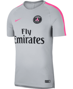 Nike Paris Saint-Germain Dry Squad Trainingsshirt 2018-2019 Wolf Grey Hyper Pink